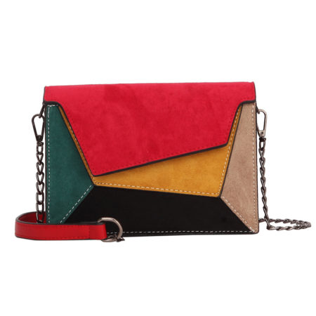 red patchwork bag