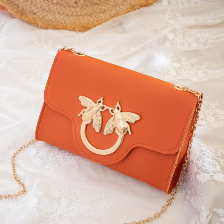 orange mini bag